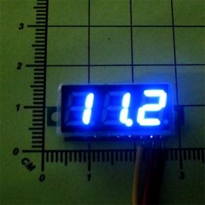 Цифровой вольтметр DC0 - 100V (Синяя индикация)