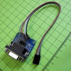 Адаптер RS232 в TTL, основан на MAX3232   цветной шлейф 4 провода 20см