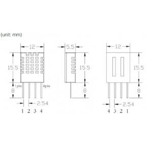 DHT11 Цифровой датчик влажности и температуры