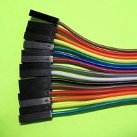 Цветной шлейф (15шт) для макетирования, 20см, разъем-разъем BLS-1
