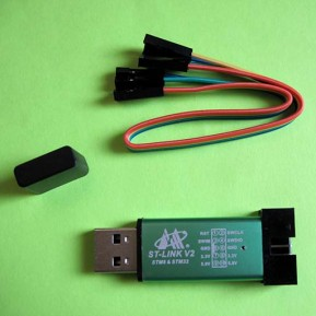 Внутрисхемный программатор ST-Link V2 Mini, STM8 & STM32 + цветной шлейф