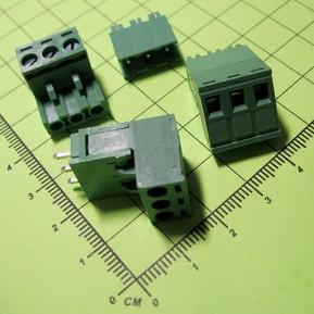 2EDG5.08-3P Клеммник винтовой разрывной, 3 конт., шаг 5.0 мм, зеленый, 300V/15A
