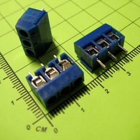 MF301-3P-5.0 Клеммник винтовой, 3 конт., шаг 5.0 мм, синий, 250V/16A