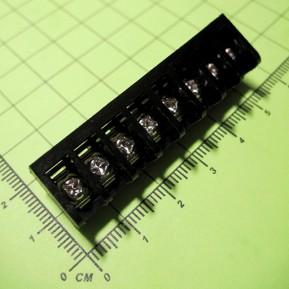 HD6LL-8P-6.35 Клеммник винтовой, 8 конт., шаг 6.32 мм, черный, 300V/10A