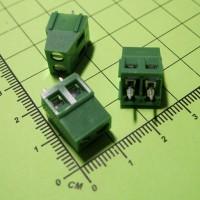 MF128-02P-5.0 Клеммник винтовой, 2 конт., шаг 5.0 мм, зеленый, 300V/10A