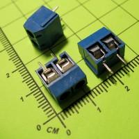 MF301-2P-5.0 Клеммник винтовой, 2 конт., шаг 5.0 мм, синий, 250V/16A