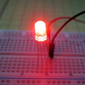 RGB светодиод трехцветный 5мм, красный/зеленый/синий, яркий, корпус прозрачный, 4 выв.