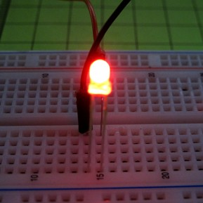 Светодиод 3мм, красный, матовый