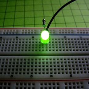 Светодиод зеленый 5мм, матовый