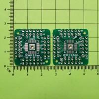 Плата-переходник HTQFP, QFN44, QFN48, QFP44, QFP48 - DIP44, DIP48, шаг 0.5мм, двухсторонняя