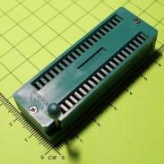 Универсальная ZIF-панелька с нулевым усилением, 40 выводов