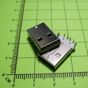 Вилка USB-A-M-SM на плату