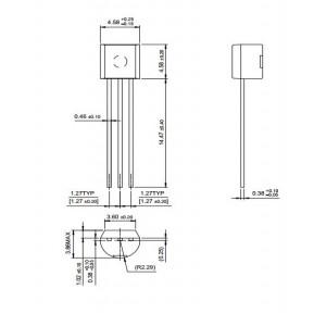Биполярный транзистор (NPN) 2N2222A