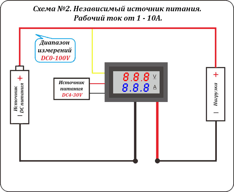 DSN-VC288 Схема подключения 2. Независимый источник питания.