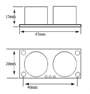 HC-SR04 Размеры
